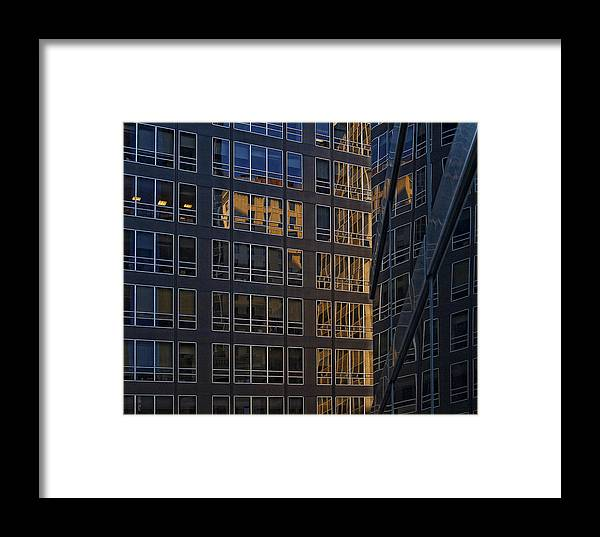 Architectural Detail Framed Print featuring the photograph New York Sunset 2 by Robert Ullmann