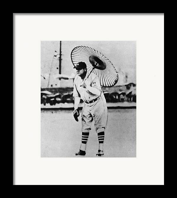 1930s Framed Print featuring the photograph New York Yankees. Babe Ruth, Holding by Everett