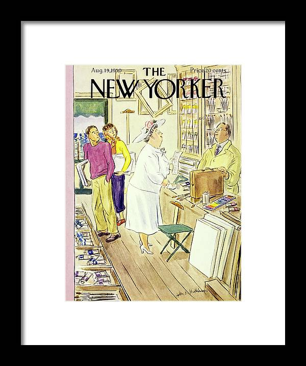 Matron Framed Print featuring the painting New Yorker August 19 1950 by Helene E Hokinson