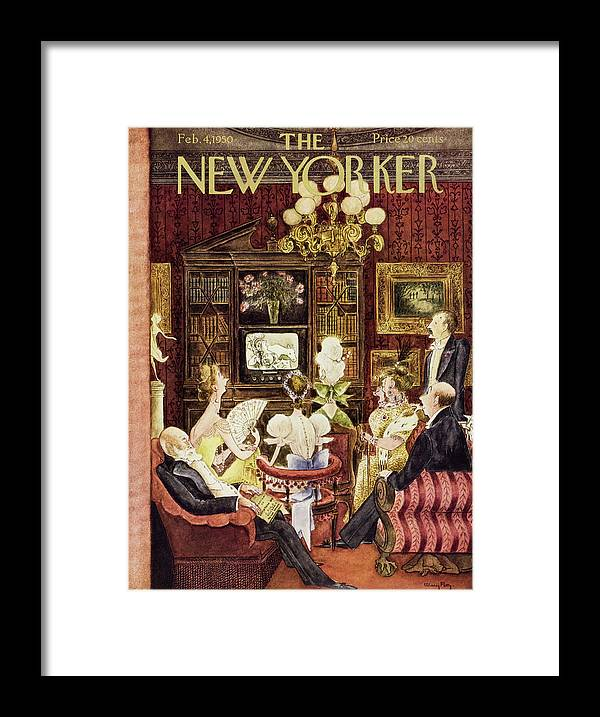 Aristocrats Framed Print featuring the painting New Yorker February 4 1950 by Mary Petty