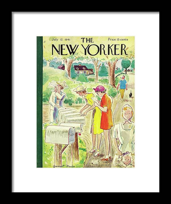 Country Framed Print featuring the painting New Yorker July 12 1941 by Garrett Price