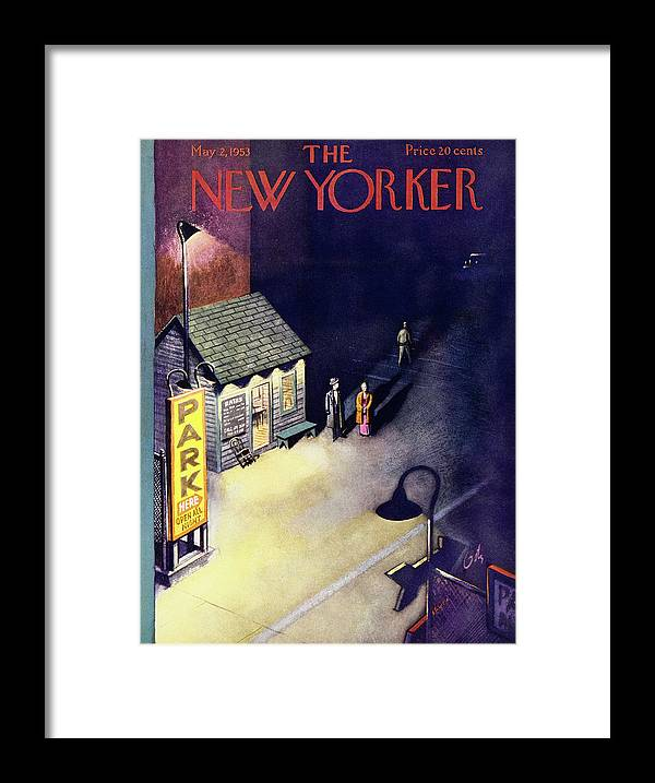Parking Lot Framed Print featuring the painting New Yorker May 2 1953 by Arthur Getz