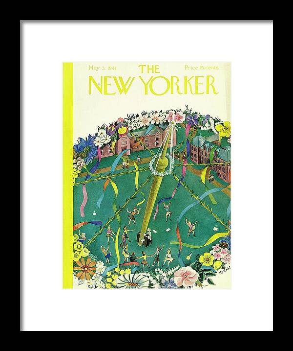 Spring Framed Print featuring the painting New Yorker May 3 1941 by Ilonka Karasz