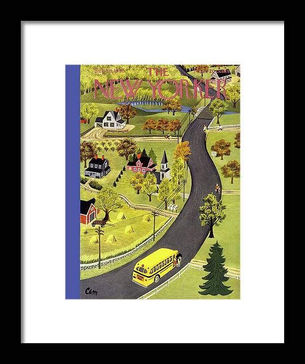 Country Framed Print featuring the painting New Yorker September 9 1950 by Charles E Martin