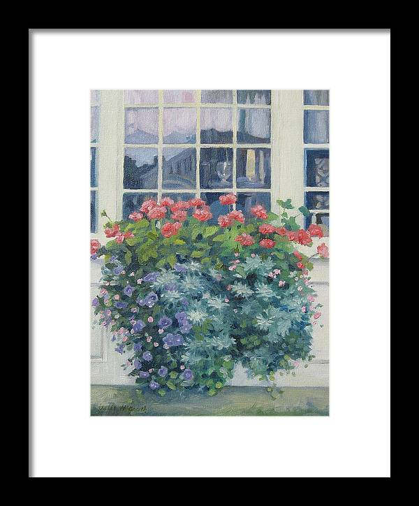 Leslie Mcgrath Framed Print featuring the painting Newburyport Window by Leslie Alfred McGrath