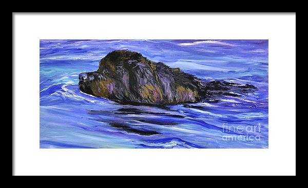 Newfoundland Framed Print featuring the painting Newfoundland Oil Painting by Mary Jo Zorad