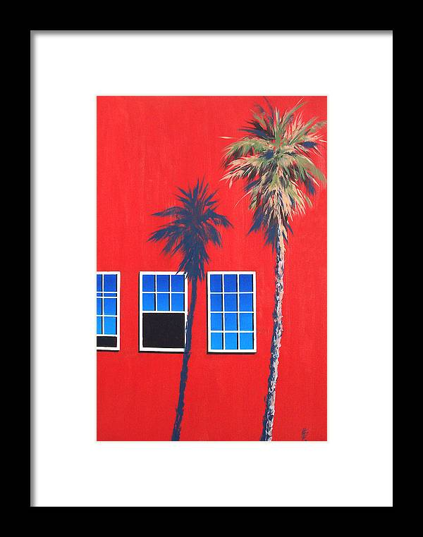 Palm Tree Framed Print featuring the painting Newport Afternoon by Philip Fleischer