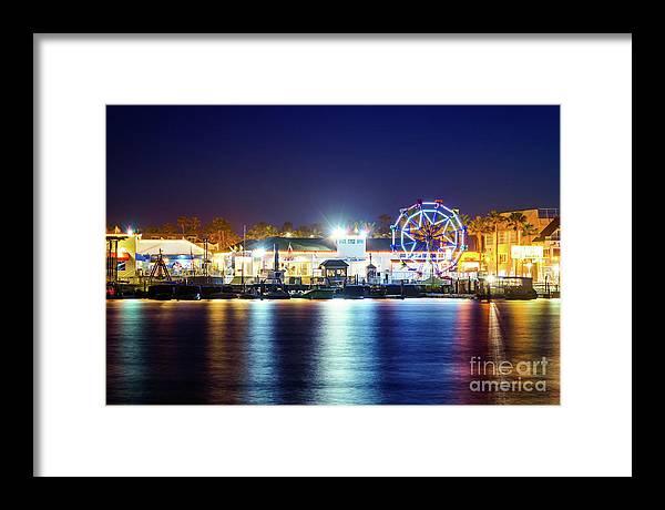 Newport Beach Balboa Fun Zone at Night Photo by Paul Velgos