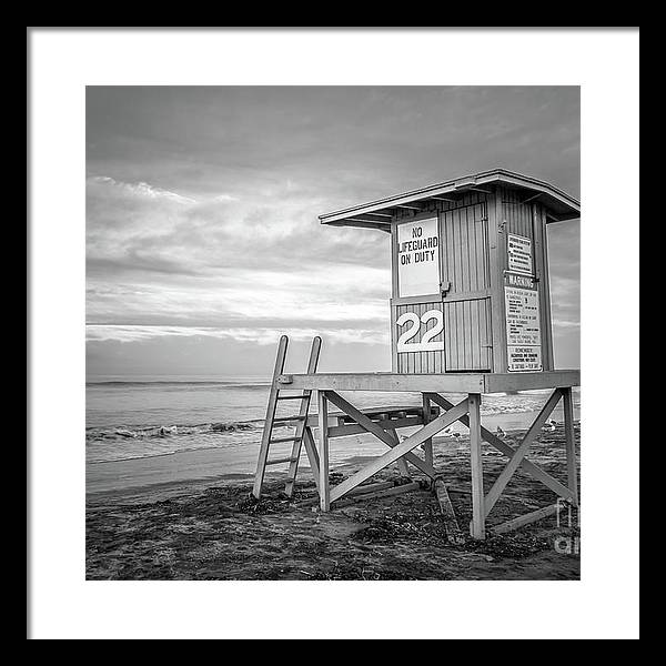 Newport Beach CA Lifeguard Tower 22 Black and White Photo by Paul Velgos