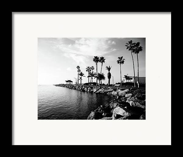Balboa Peninsula Framed Print featuring the photograph Newport Beach Jetty by Paul Velgos