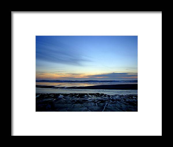 Dark Sunset Framed Print featuring the photograph Newport Beach Sunset by Lisa Rose Musselwhite