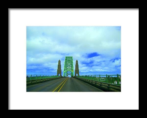 Newport Oregon Bridge Framed Print featuring the photograph Newport Oregon Bridge by Lisa Rose Musselwhite