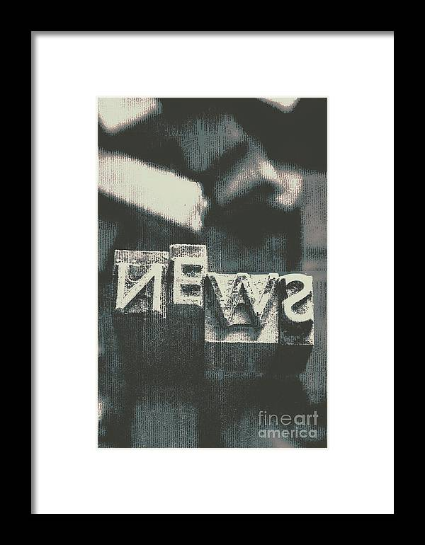 Newspaper Printing Press Art Framed Print by Jorgo Photography ...