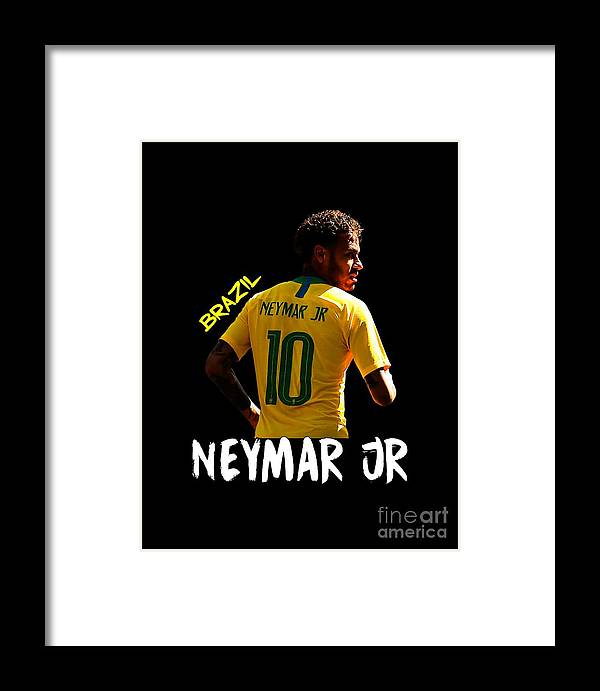 more photos 9ccf6 e00f9 Neymar Junior Framed Print