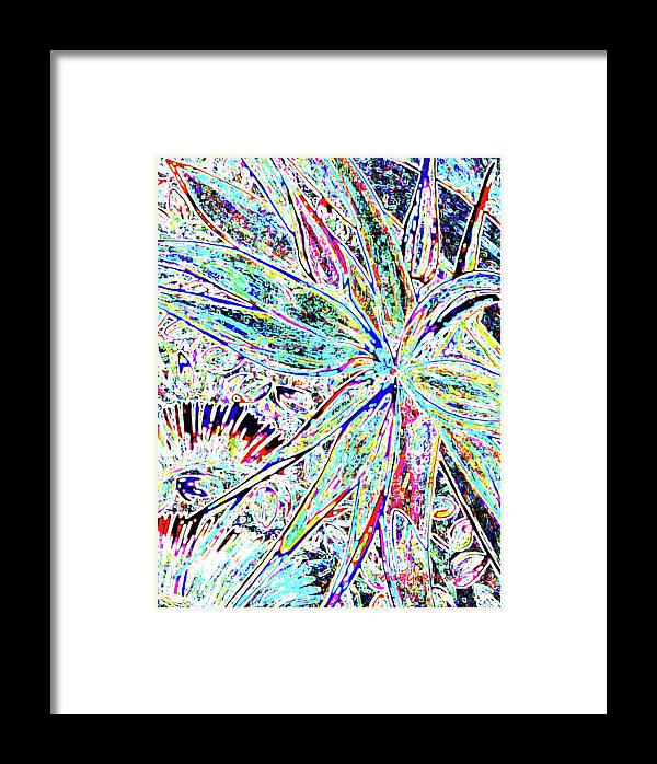Floral Abstract Framed Print featuring the digital art Ngb Bird Of Paradise by Gretchen Ten Eyck Hunt