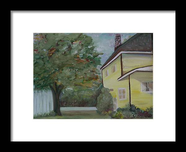 Oil Painting Framed Print featuring the painting Nh Home by Pamela Wilson