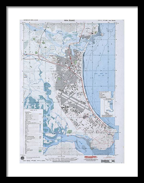 Nha Trang Vietnam Map.Nha Trang South Vietnam 1968 Framed Print By Maps Of Vietnam