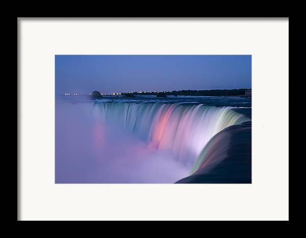 3scape Photos Framed Print featuring the photograph Niagara Falls At Dusk by Adam Romanowicz