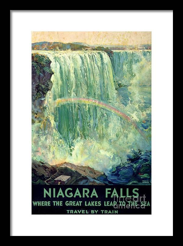 Niagara Falls Vintage Travel Poster Restored by Vintage Treasure
