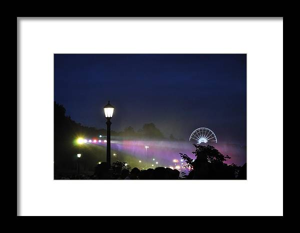 Romance Framed Print featuring the photograph Niagara Glimmers by Qadeer