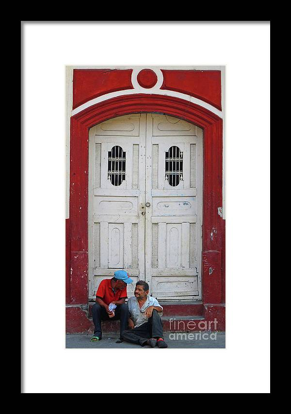 Leon Framed Print featuring the photograph Nicaragua Door 1 by Randall Weidner