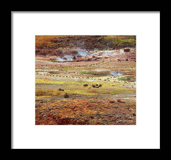 Leon Framed Print featuring the photograph Nicaragua Mud Pots by Randall Weidner