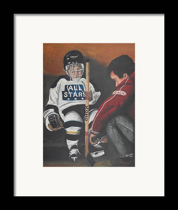Boy Framed Print featuring the painting Nice And Tight by Ron Genest