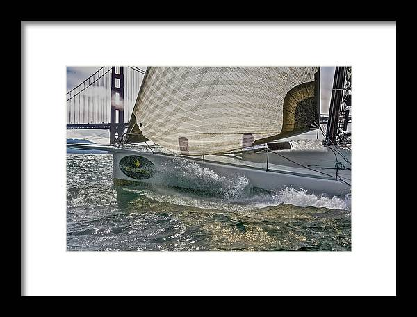 Sloop Framed Print featuring the photograph Nice Day 11 by Steven Lapkin
