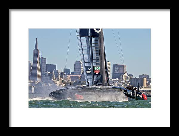 Sloop Framed Print featuring the photograph Nice Day 4 by Steven Lapkin