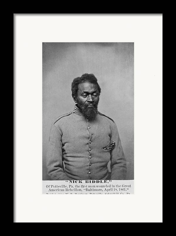 History Framed Print featuring the photograph Nicholas Biddle, An African American by Everett