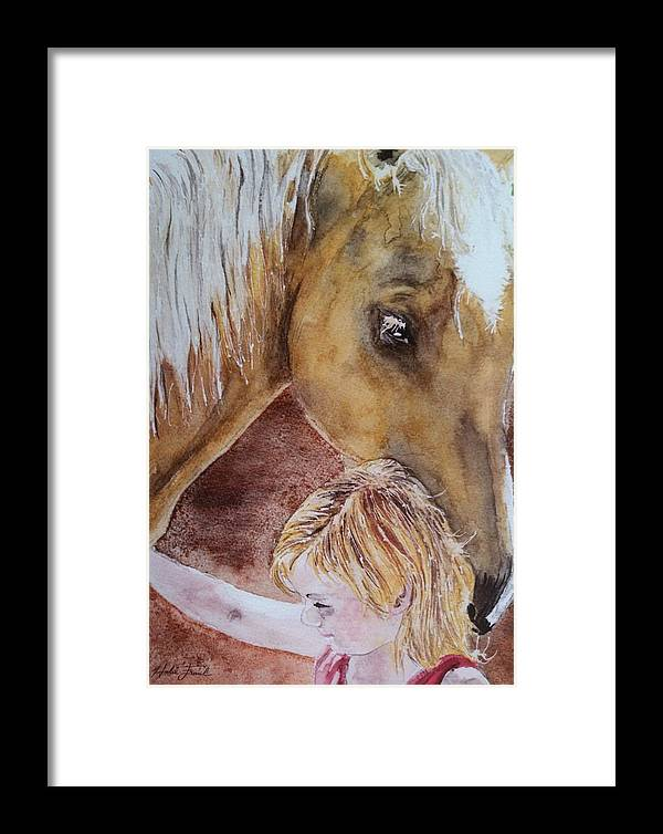 Horse Framed Print featuring the painting Nick And Girl by Halie French