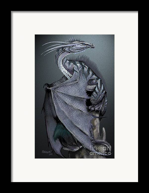 Dragon Framed Print featuring the digital art Nickel Dragon by Stanley Morrison