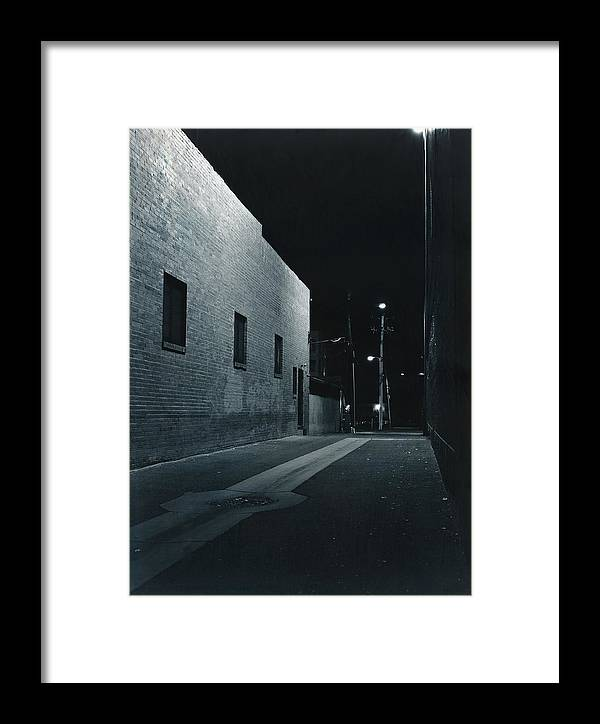 Night Framed Print featuring the photograph Night Alley To Main Street by Jim Furrer