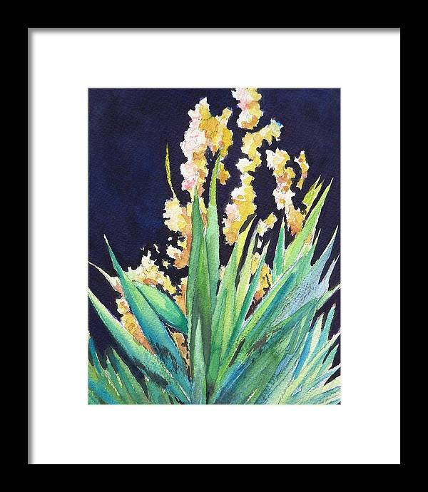 Flower Framed Print featuring the painting Night Bloom by Dorothy Nalls