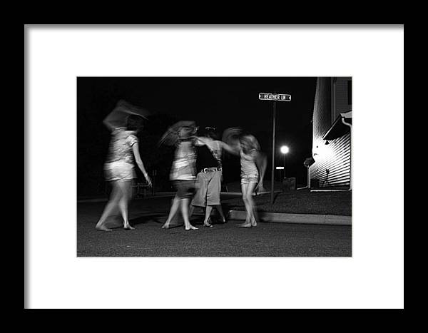 People Framed Print featuring the photograph Night Dancing by David Ralph Johnson