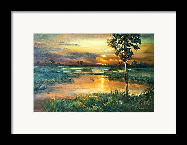 Painting Framed Print featuring the painting Night Descends by Dianna Willman