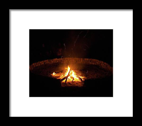 Fire Circle Framed Print featuring the photograph Night Done Right by Charles Peck