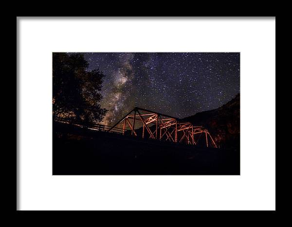 Landscape Framed Print featuring the photograph Night Drive by Tanner Williams