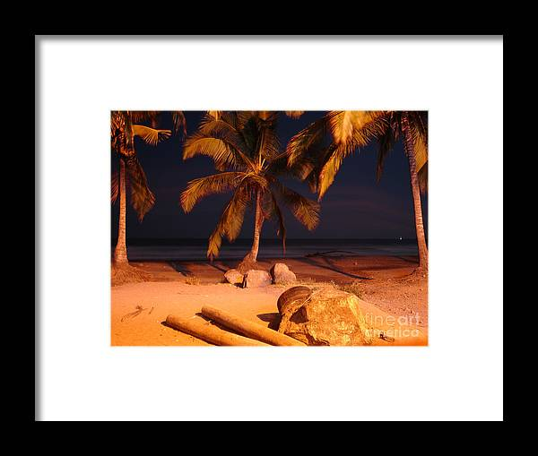 Landscape Framed Print featuring the photograph Night Forever Captured by Chad Natti