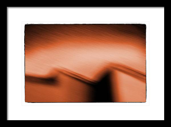 Architecture Framed Print featuring the photograph Night House Orange by Michael Ziegler