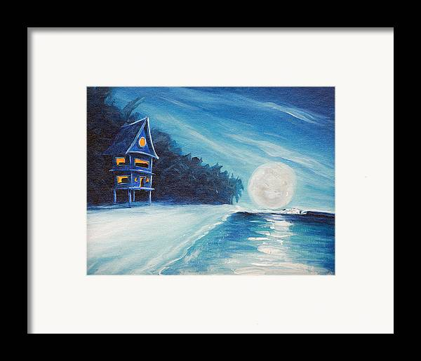 Surf Framed Print featuring the painting Night Life by Ronnie Jackson