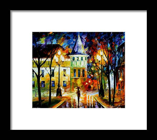 Afremov Framed Print featuring the painting Night Magic by Leonid Afremov