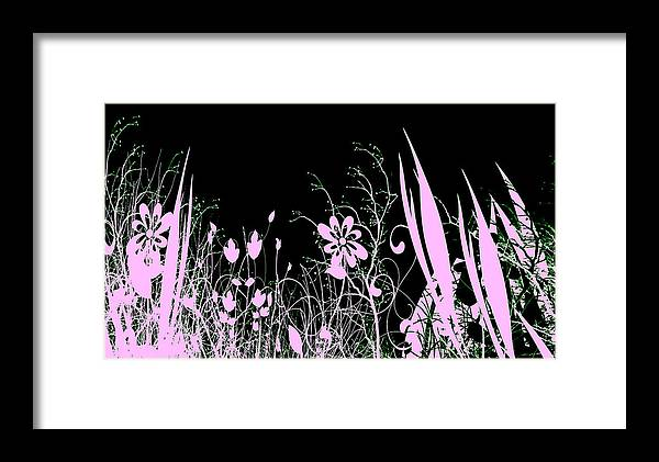Digital Art Framed Print featuring the digital art Night Of The Flowers by Evelyn Patrick