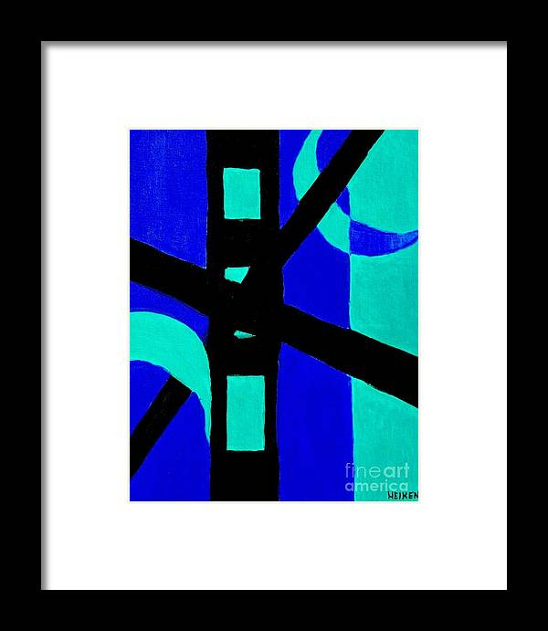 Painting Framed Print featuring the painting Night On The Bridge by Marsha Heiken