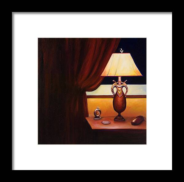 Still Life Red Framed Print featuring the painting Night by Shannon Grissom