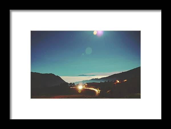 Altitude Framed Print featuring the photograph Night Sky Around Mount Bromo In Java, Indonesia by Srdjan Kirtic