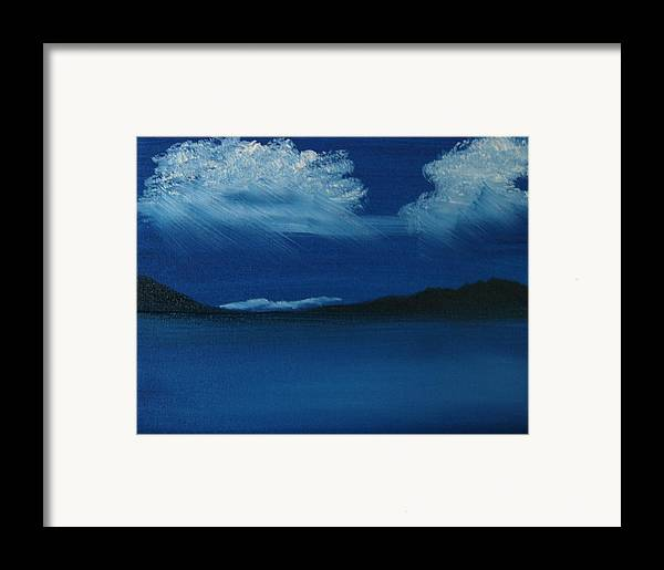 Landscape Framed Print featuring the painting Night Sky by Dottie Briggs