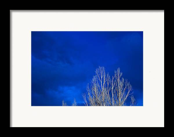 Night Framed Print featuring the photograph Night Sky by Steve Gadomski