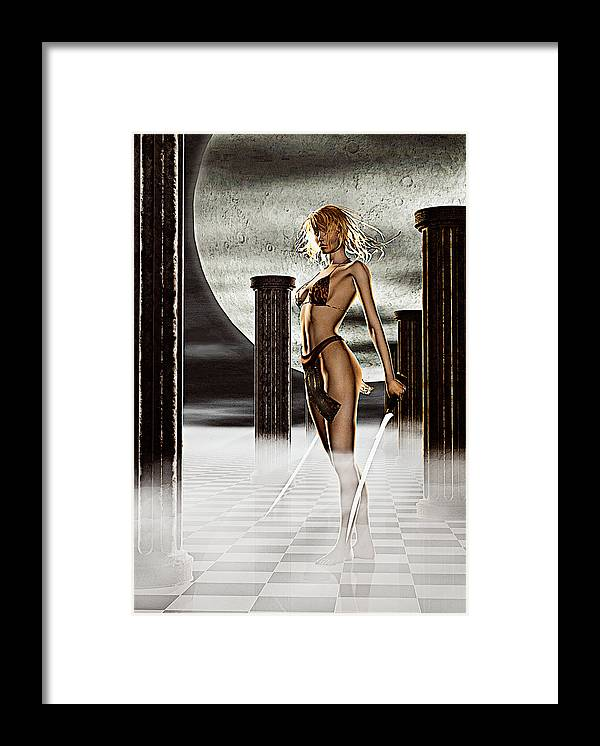 Fantasy Framed Print featuring the photograph Night Stalker by Peter J Sucy