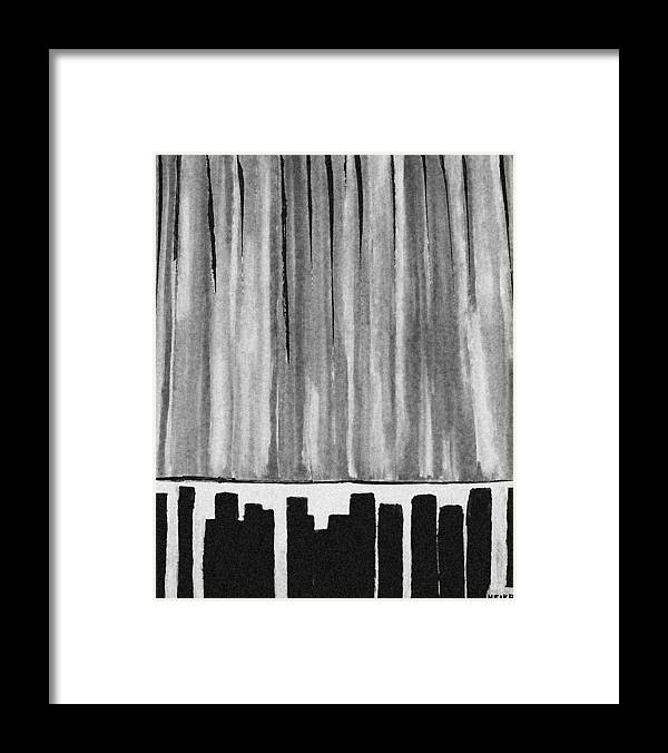 Painting Framed Print featuring the painting Night Time Downtown by Marsha Heiken